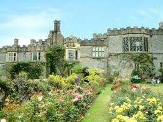 The rose garden at Haddon Hall