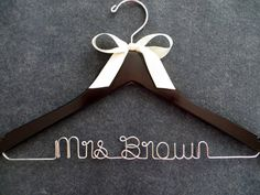 Wire Wedding Hanger  Bridal Hanger with Bow  by LynnClaire on Etsy, $26.00 @roxannegrillo