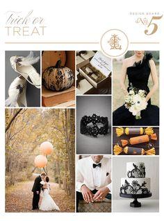 An elegant yet spooky Halloween wedding :)