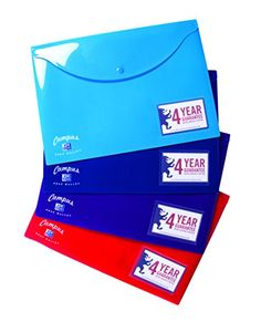 From 1.60:Oxford Campus A4 Popper Wallet Assorted