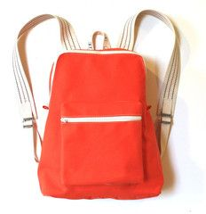 Utility Canvas - classic backpack in orange. They're making these in toddler size this coming summer. Can't wait!