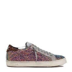 74b3d320f34 John Sneaker from is a low top lace up sneaker in rainbow-glitter. This  sneaker is specially treated on the outer sole to give a distressed look.  Also avai