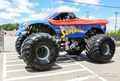 Superman Monster Truck | The Superman Monster Jam Truck. (Photo by Jeremy Smith) my grandsons would love this!!