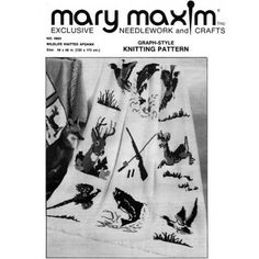 My favorite source for arts and crafts:  Wildlife Afghan Pattern - Knit