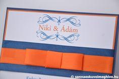 Színes léggömbök esküvői meghívó, meghívó, narancssárga esküvői meghívó, kék esküvői meghívó, szalagos esküvői meghívó, sannaeskuvoimeghivo, egyedi esküvői meghívó, wedding card