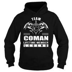 (Tshirt Best Gift) Team COMAN Lifetime Member Legend Last Name Surname T-Shirt Shirt design 2016 Hoodies Tees Shirts