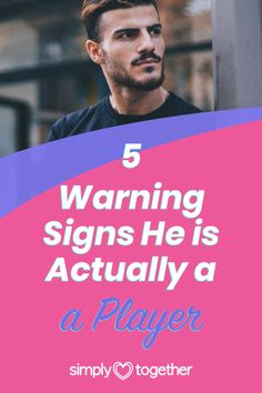 It's impossible to have a relationship with someone who is just playing you. Some men take pride in tricking women this way. Guys who are players will lie and hurt you in the long run. These warning signs will help you protect yourself by recognizing if he's a player early on. #DatingTips #DatingAdvice #ForWomen #Relationship #RelationshipTips Relationship Problems, Relationship Advice, Warning Signs, Dating Advice, How To Run Longer, It Hurts, Pride, Guys, Women