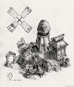 ArtStation - Wheat Windmill, Max Schulz