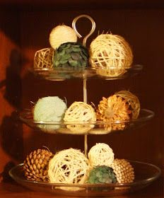 A use for my tiered basket. bayberry creek Crafter: DIY Decorative Balls