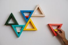 Triangle-shelve - DIY