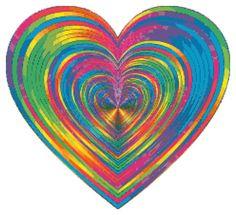 Rainbow Striped Heart Cross Stitch PDF Needlework Pattern - DIY Crosss.. https://www.etsy.com/listing/400685177/rainbow-striped-heart-cross-stitch-pdf