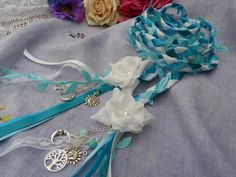 Sun moon and tree of life  Handfasting cord by dancingwithbadgers