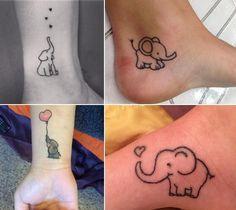 Elephant Tattoo Designs Go wild and crazy with these animal tattoos Little Elephant Tattoos, Simple Elephant Tattoo, Elephant Family Tattoo, Elephant Tattoo Design, Tattoo Elephant, La Ink Tattoos, Cool Wrist Tattoos, Clover Tattoos, Tatoos