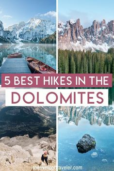 5 Best Hikes In The Dolomites. Here are some of the five best hikes in the Dolomites (Dolomiti) you shouldn't miss. Best Hikes in Dolomites | Best Dolomites Hikes | Dolomites Italy Hiking | #hiking #dolomites #italy