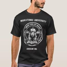 A brand new Miskatonic U. from the Original Arcane Apparel. Size: Adult L. Tips Fitness, Fitness Models, University Tees, Biker Chic, Tshirt Colors, T Shirt, Casual, Sleeves, Mens Tops