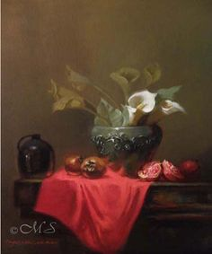 Journey of the Medlar. 16x14 inches, Oil on Linen. Available at Rental Sales Gallery © Margret E. Short #art #painting