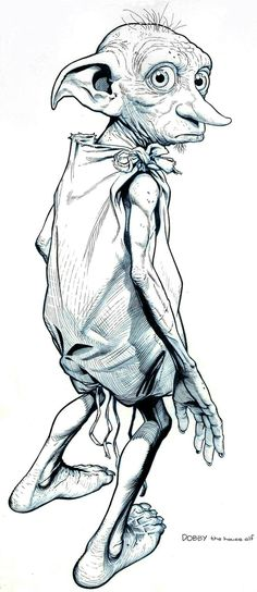 Dobby- the first free elf by jerome-k-moore harry potter in 2019 dibujos de Dobby Harry Potter, Harry Potter Tattoos, Arte Do Harry Potter, Harry Potter Drawings, Harry Potter World, Harry Potter Sketch, Fanart Harry Potter, Hogwarts, Art Sketches