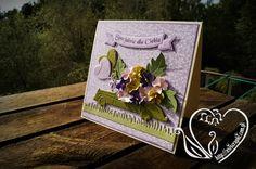 Urodzinowa kartka koniecznie z samochodem wypełnionym kwiatami w kolorach pastelowych.