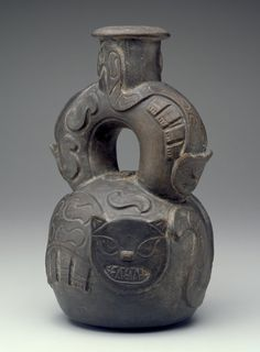 Vessel                         Artist Unknown (Chavin)       (Peru, South America), 1400-1000 B.C.