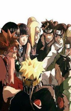 Sakura Naruto Ino Tenten Kiba Neji Hinata Choji Shikamaru the gang Naruto Shippuden Sasuke, Anime Naruto, Art Naruto, Sakura E Sasuke, Naruto Cute, Naruto And Sasuke, Hinata, Boruto, Manga Anime
