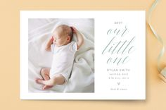 Sweet dreams, sweet pea Birth Announcements by Sev. Birth Announcement Photos, Birth Announcements, Holiday Cards, Christmas Cards, Seven Swans, Design Guidelines, Custom Stamps, Personalized Stationery, Birthday Party Invitations