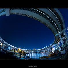 Loop Bridge Fish-Eye by Takahiro Yamamoto, via Flickr