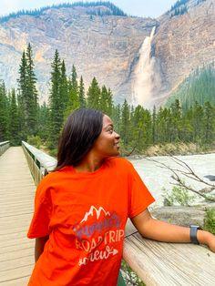 Beautiful British Columbia! #waterfalls #britishcolumbia #outdoor #banffnationalpark Banff National Park, British Columbia, Waterfalls, T Shirts For Women, Outdoor, Beautiful, Tops, Fashion, Outdoors