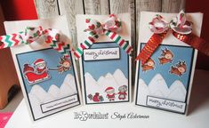 Christmas Crafts   Christmas DIY Gifts Making   Bowdabra Bows Christmas Treat Bags, Diy Christmas Gifts, Christmas Projects, Bow Making Tutorials, Lawn Fawn Stamps, School Parties, Santa Gifts, Wine Charms, Surprise Gifts