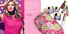Check out Estée Lauder's Lilly printed exclusive gift - now available online at www.esteelauder.com!