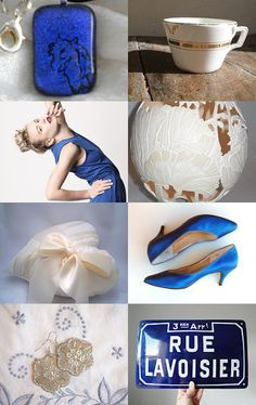 Julie of Dorsbien chose these lovely blues for her gorgeous treasury featuring quite a few expat sellers.  --Pinned with TreasuryPin.com