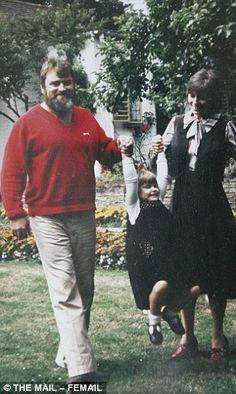 Brian, Rosalind andHildegarde in the garden of their home...