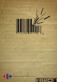 Un code-barres, mine de rien c'est créatif ! #pub