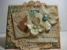 Handmade mother's day card.