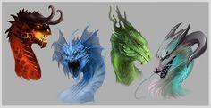 Dragon heads by Allagar on deviantART