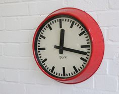 Mid Century German Industrial Clock By Burke Circa 1950's
