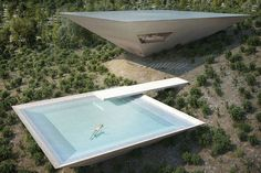 Balancing on a rural hillside in the Spanish region of Matarraña, the Inverted Pyramid House seems to defy the laws of gravity. Like the exterior,...