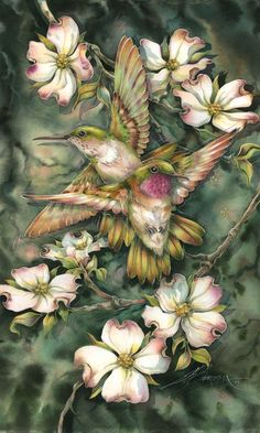 Bergsma Gallery Press::Paintings::Nature::Birds::Hummingbirds::Friendship . . . - Prints