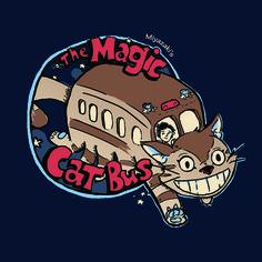 The Magic CatBus - Creative Outpouring, Shirtpunch Studio Ghibli Shirt, Studio Ghibli Characters, Magic School Bus, Cats Bus, Nerd, My Neighbor Totoro, Miyazaki, Awesome Anime, Transparent Stickers