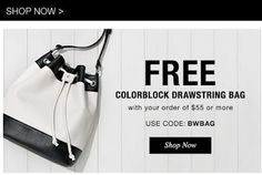 AVON for every day living: AVON'S FREE COLORBLOCK DRAWSTRING BAG