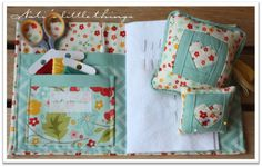 Pincushion + needle case Tutorial #rileyblakedesigns #pincushion #needlecase #sweetestthing