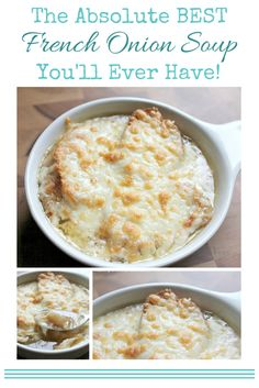 I know, everybody claims their recipe is THE BEST, right? I promise, this one is for real! It's the best French Onion Soup you'll ever have! Great Recipes, Favorite Recipes, Best Soup Recipes, Chili Recipes, Easy Recipes, Best French Onion Soup, Soup And Sandwich, Saveur, Winter Food
