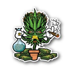 ~~~bitch, u can have Groot, I'll take W.C. Clopse!~~~ Dope As Yola Clopse - Weed Cyclopse Vinyl Sticker