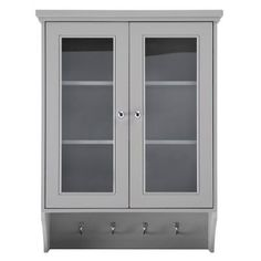 Home Decorators Collection Gazette 23-1/2 in. W x 31 in. H Wall Cabinet in Grey-GAGW2431 - The Home Depot