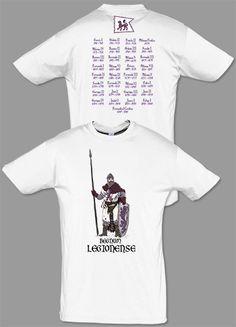 Camiseta serie caballeros: Regnum Legionense. Diseñada por Escobar.