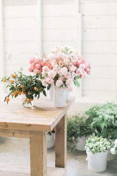 Learn how to make a stunning Spring centerpiece using peonies, ranunculus, garden roses and cumquats that will take your party table to the next level.
