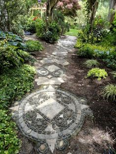 55 Gorgeous Rock Pathway Design Ideas To Enhance Your Beautiful Garden 30 55 Gorgeous Rock Pathway D Landscaping With Rocks, Backyard Landscaping, Backyard Ideas, Landscaping Ideas, Landscape Design, Garden Design, Path Design, Rock Pathway, Jardin Decor