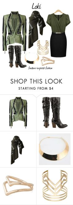"""""""Loki Inspired Outfit"""" by fandom-inspired-fashion ❤ liked on Polyvore featuring Steve Madden and Accessorize"""