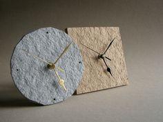 paper pulp clocks | BLURECO