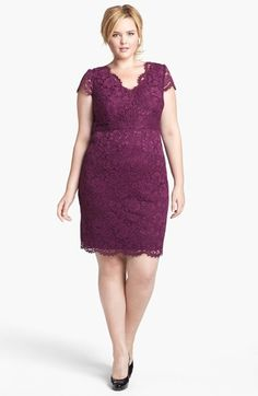 Adrianna Papell Lace Sheath Dress (Plus Size) | Nordstrom