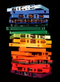 """thedailywhat: """" Matt Whitwell: """"Cassette Rainbow"""" Prints available here.] """" I used to have a colored cassette collection. Clash On, Cartoon Photo, Photo Vintage, New Wave, I Remember When, My Childhood Memories, School Memories, Over The Rainbow, Event Posters"""
